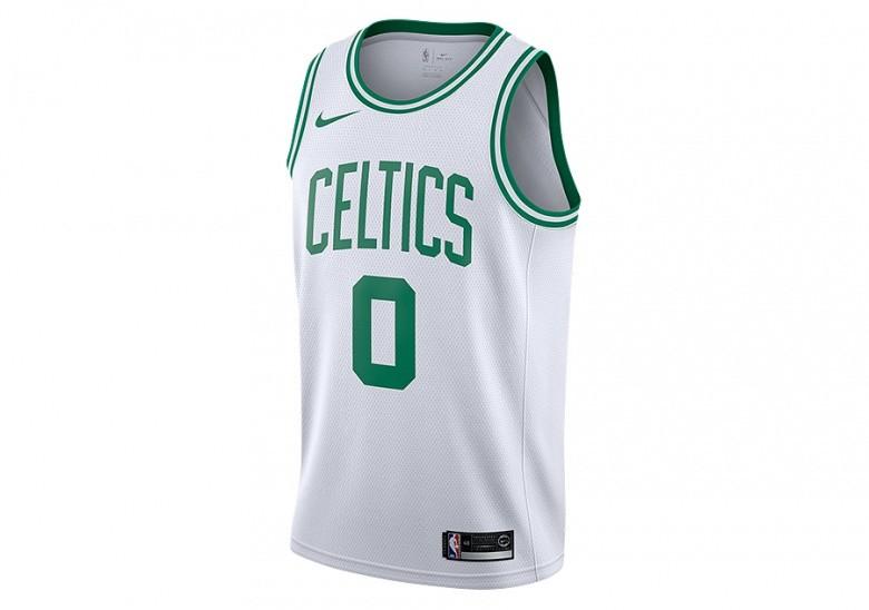 NIKE NBA BOSTON CELTICS JAYSON TATUM SWINGMAN HOME JERSEY WHITE