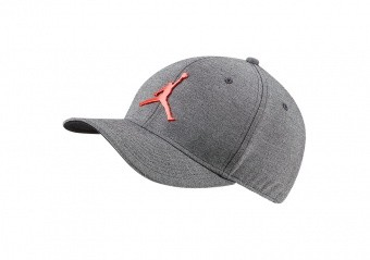 NIKE AIR JORDAN CLASSIC99 METAL JUMPMAN CAP BLACK HEATHER