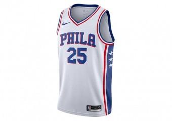 NIKE NBA PHILADELPHIA 76ERS BEN SIMMONS SWINGMAN HOME JERSEY WHITE