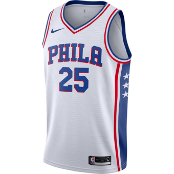 NIKE NBA PHILADELPHIA 76ERS BEN SIMMONS SWINGMAN HOME JERSEY