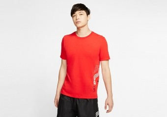 NIKE KYRIE IRVING DRI-FIT TEE HABANERO RED