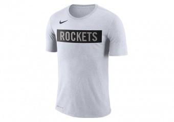 NIKE NBA HOUSTON ROCKETS LOGO DRI-FIT TEE WHITE