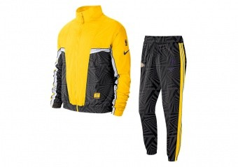 NIKE NBA LOS ANGELES LAKERS CITY EDITION COURTSIDE TRACKSUIT BLACK