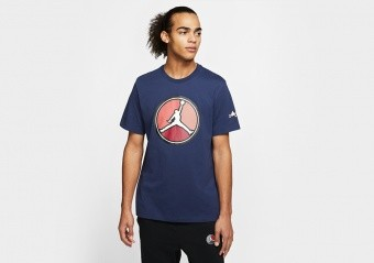 NIKE AIR JORDAN REMASTERED HBR CREW TEE MIDNIGHT NAVY
