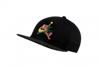 NIKE AIR JORDAN PRO JUMPMAN CLASSICS CEMENT HAT BLACK