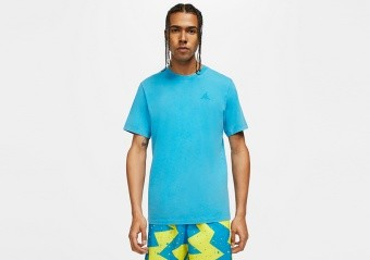 NIKE AIR JORDAN WASHED TEE EQUATOR BLUE