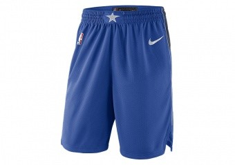 NIKE NBA DALLAS MAVERICKS SWINGMAN ROAD SHORTS GAME ROYAL