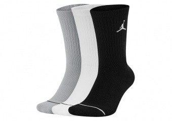 NIKE AIR JORDAN JUMPMAN CREW 3PACK SOCKS BLACK