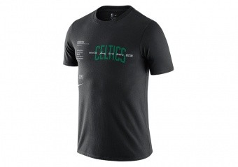 NIKE NBA BOSTON CELTICS WORLD COURTSIDE TEE BLACK