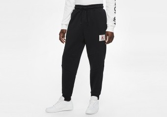 NIKE AIR JORDAN FLIGHT FLEECE PANTS BLACK