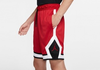 NIKE AIR JORDAN JUMPMAN DIAMOND SHORTS GYM RED