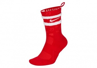 NIKE ELITE CREW 'XMAS' CHRISTMAS SOCKS UNIVERSITY RED
