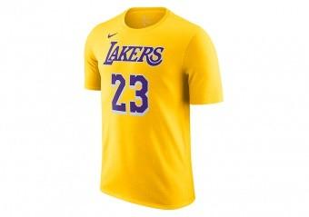 NIKE NBA LOS ANGELES LAKERS LEBRON JAMES 23 TEE AMARILLO