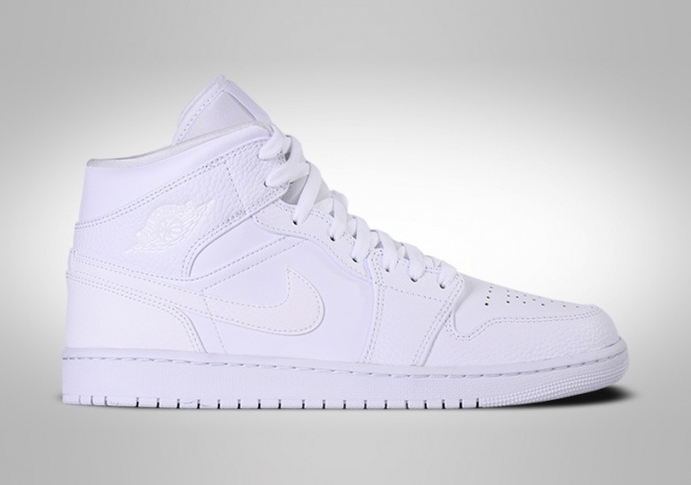NIKE AIR JORDAN 1 RETRO MID TRIPLE WHITE 2.0