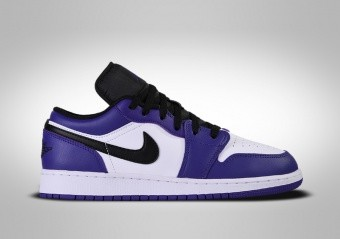 NIKE AIR JORDAN 1 RETRO LOW GS COURT PURPLE WHITE