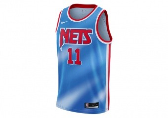 NIKE NBA BROOKLYN NETS KYRIE IRVING CLASSIC EDITION SWINGMAN JERSEY PACIFIC BLUE