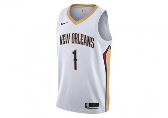 NIKE NBA NEW ORLEANS PELICANS ZION WILLIAMSON ASSOCIATION EDITION SINGMAN JERSEY WHITE