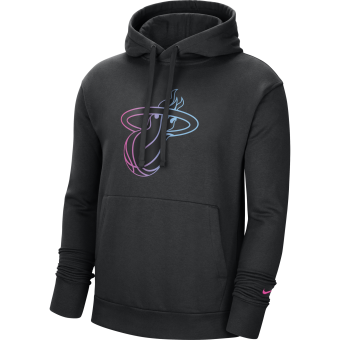 NIKE NBA MIAMI HEAT CITY EDITION LOGO PULLOVER FLEECE HOODIE