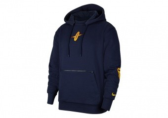 NIKE NBA GOLDEN STATE WARRIORS COURTSIDE CITY EDITION PULLOVER HOODIE COLLEGE NAVY