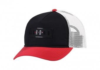 NIKE AIR JORDAN JUMPMAN AIR CLASSIC99 TRUCKER CAP BLACK GYM RED