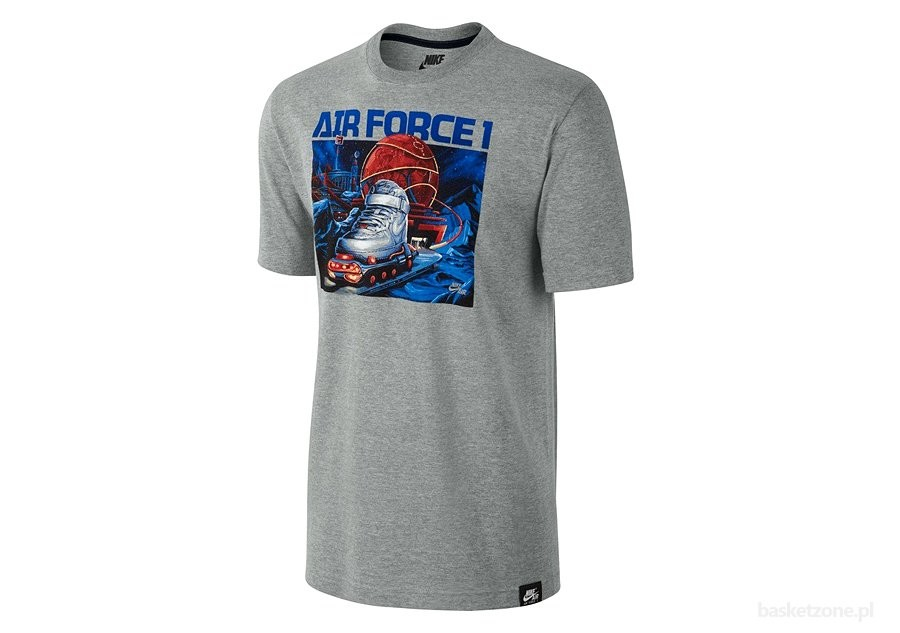 NIKE AIR FORCE 1 MISSION TEE GREY