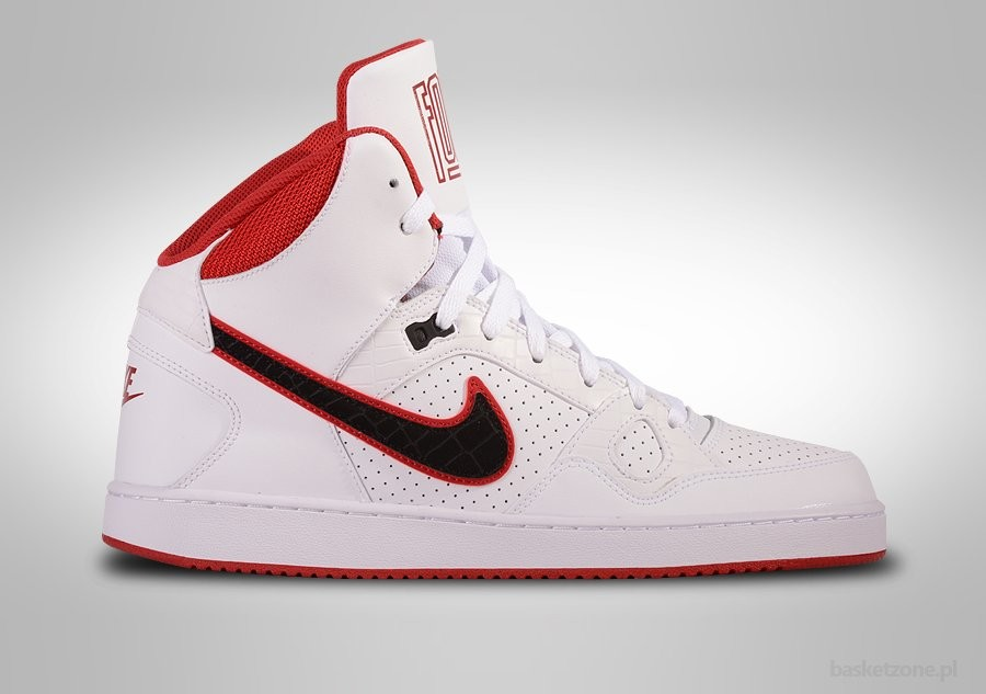 NIKE SON OF FORCE MID WHITE BLACK-GYM RED