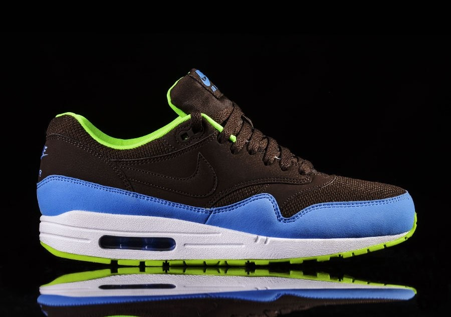 NIKE AIR MAX 1 ESSENTIAL BROWN BLUE VOLT