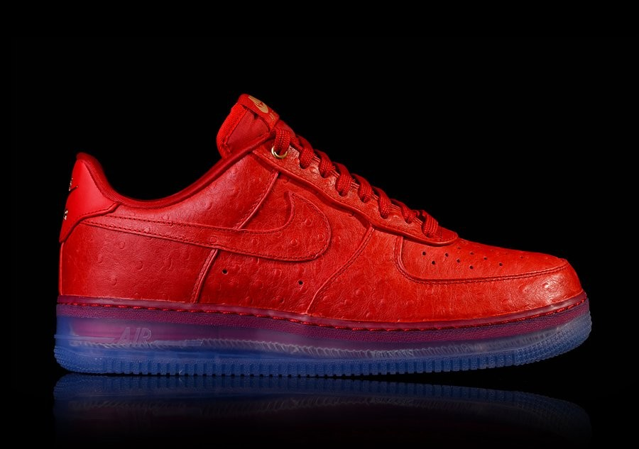 NIKE AIR FORCE 1 COMFORT LUX LOW RED OSTRICH